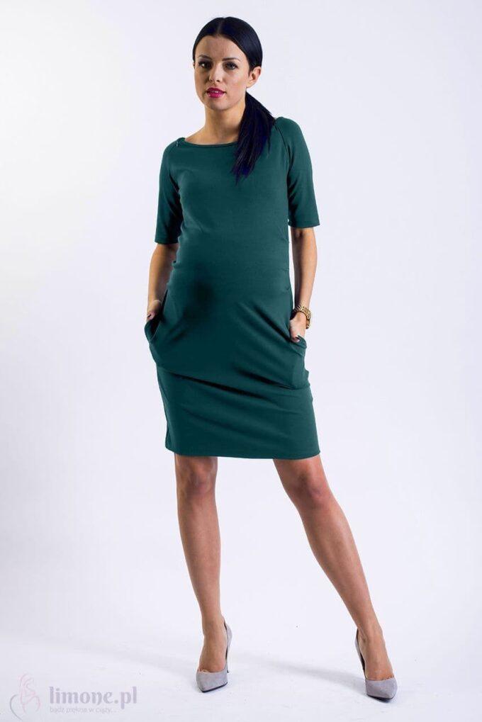 Sukienka ciążowa i do karmienia Megan sosna