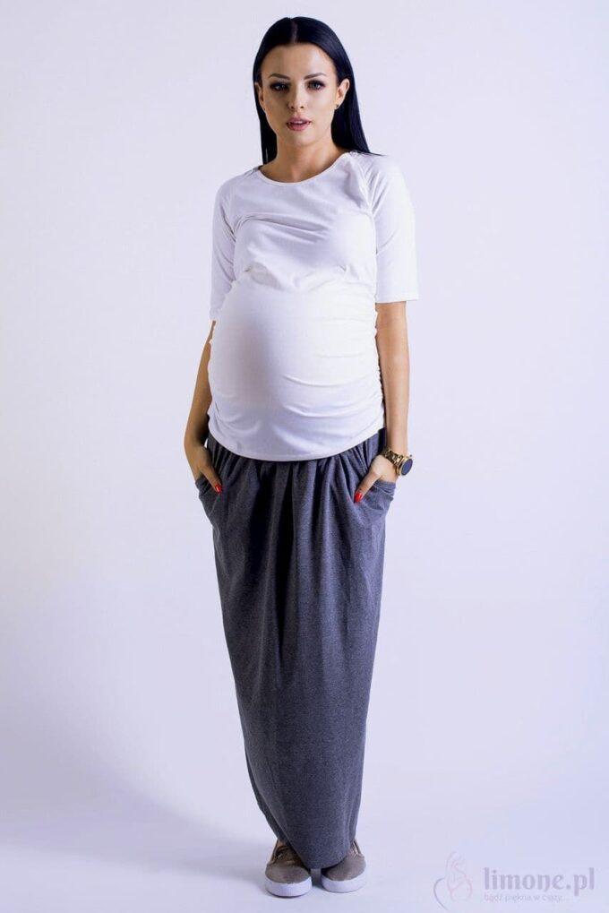 Spódnica ciążowa maxi Nelly grafit