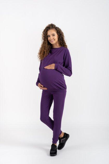 Komplet dresowy ciążowy i do karmienia Megi śliwka