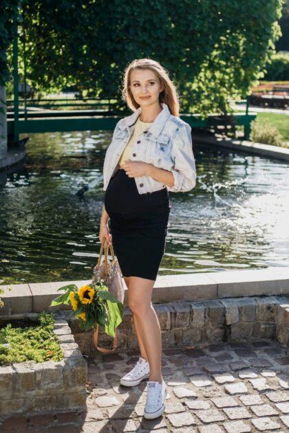 Spódnica ciążowa Emi czarna