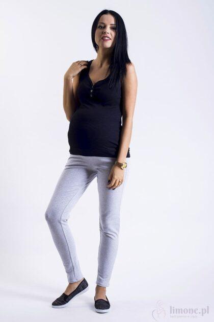 Spodnie dresowe ciążowe Bella szary melanż