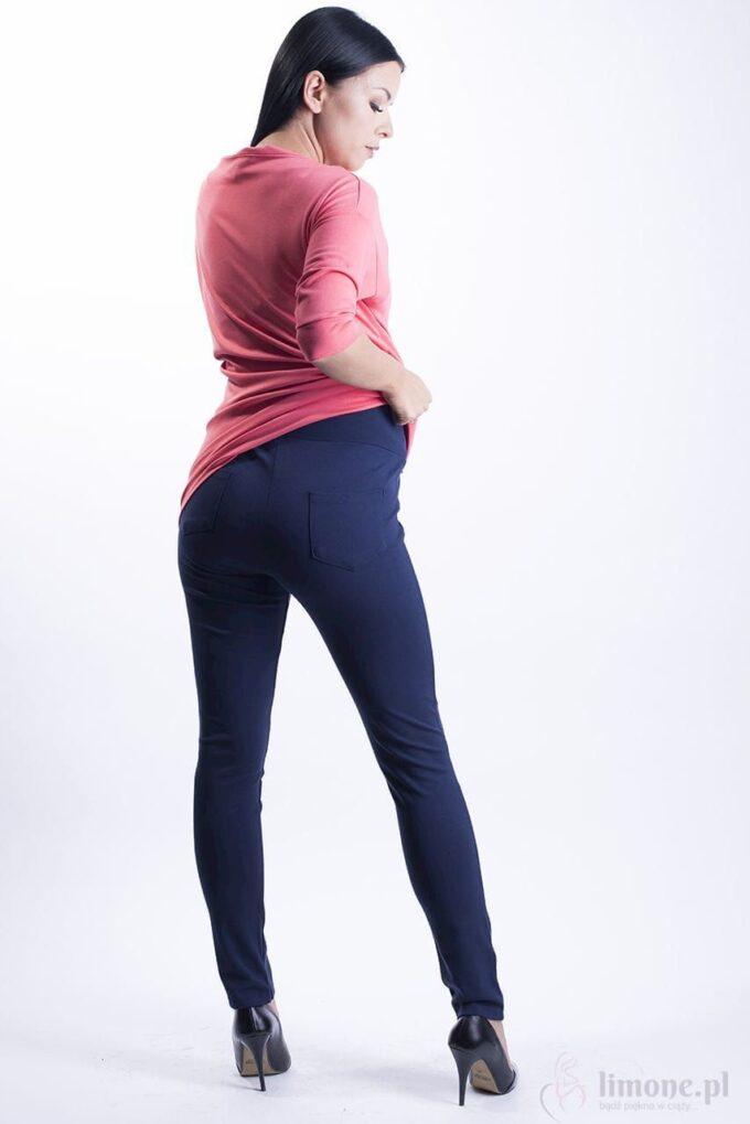 Eleganckie spodnie ciążowe Ally granat