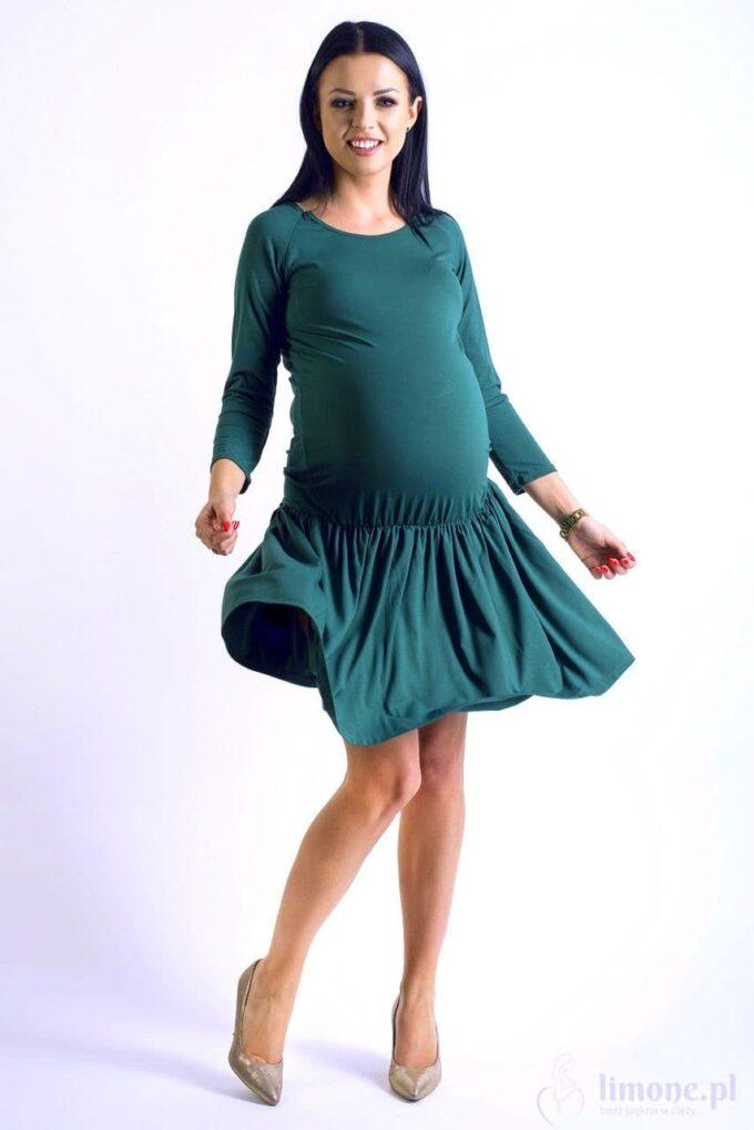 Sukienka ciążowa i do karmienia Hanna zielona