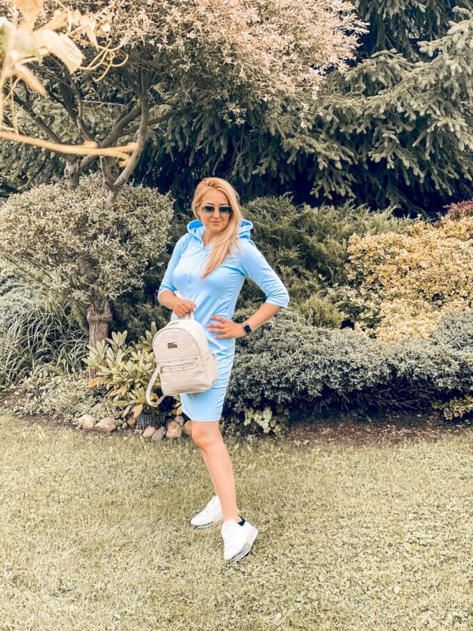 Sukienka dresowa ciążowa i do karmienia Helen