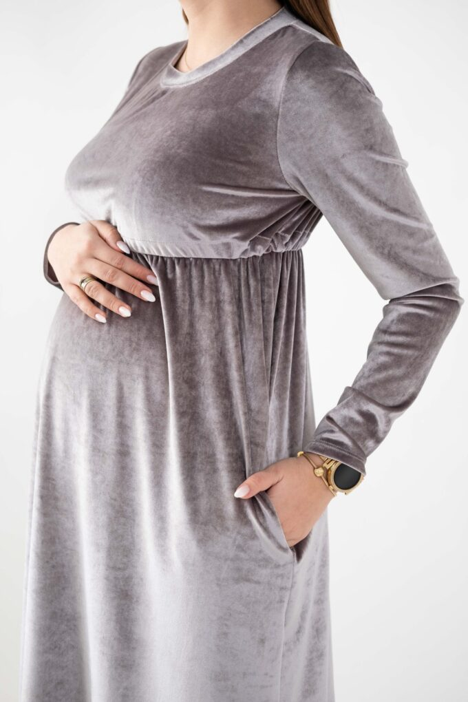 Sukienka ciążowa Margarett popiel