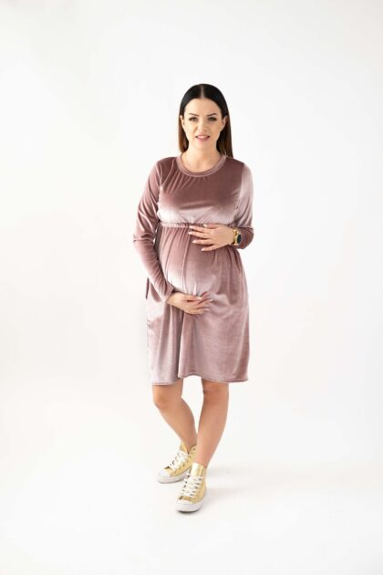 Sukienka ciążowa Margarett brudny róż