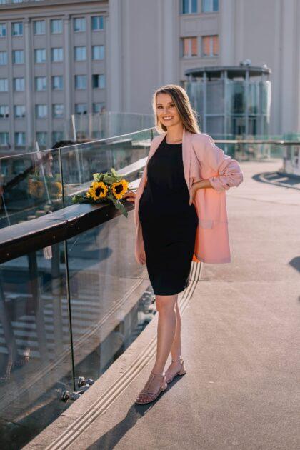 Elegancka sukienka ciążówa Julia czarna