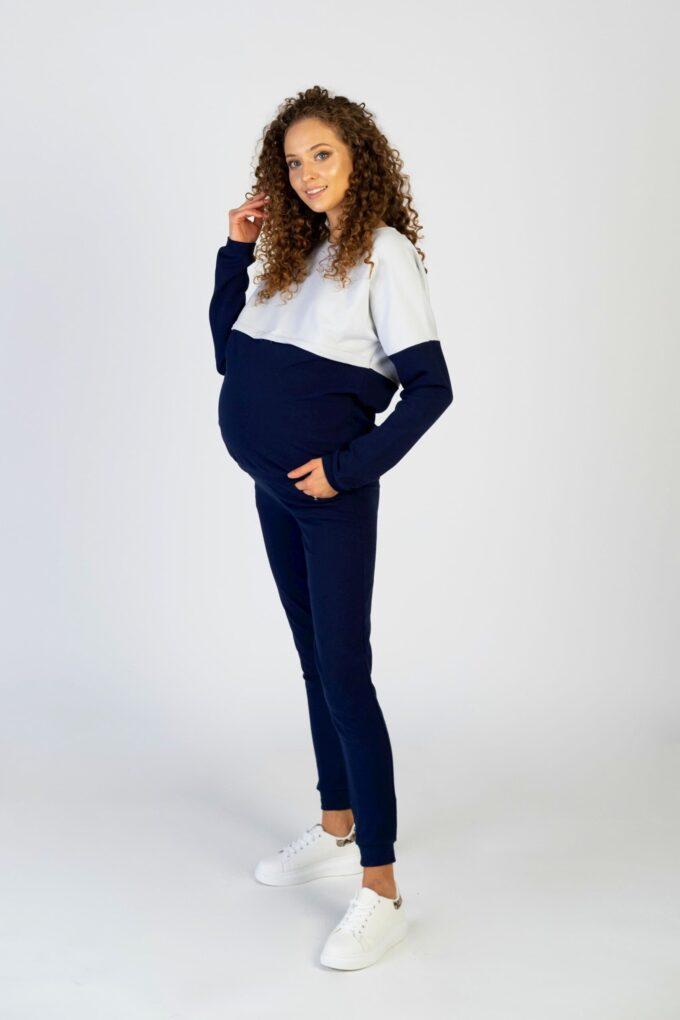 Komplet dresowy ciążowy i do karmienia Nina granat
