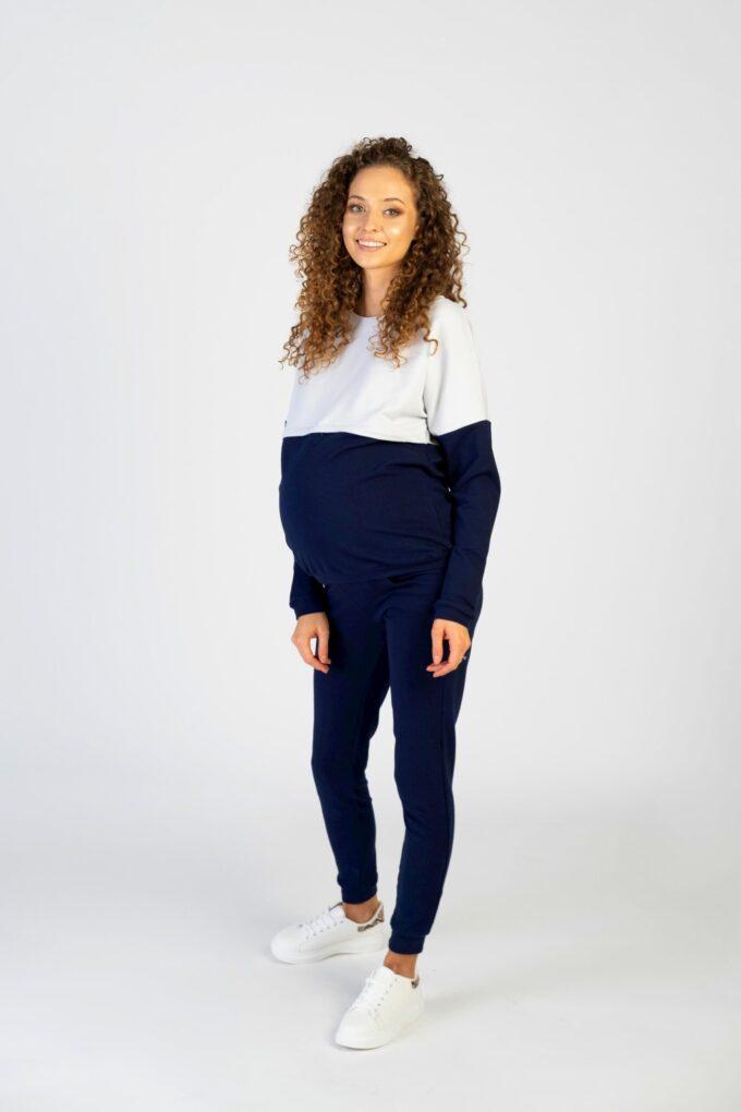 Bluza ciążowa i do karmienia Nina granat