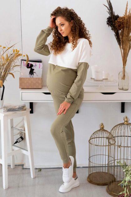 Komplet ciążowy i do karmienia Nina khaki