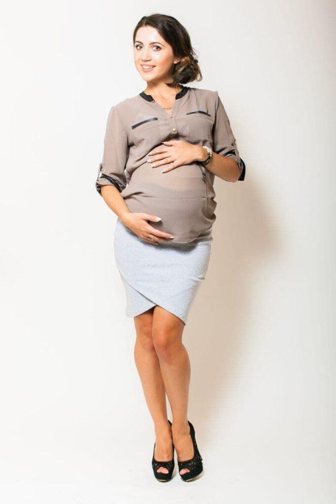 Spódnica ciążowa szara