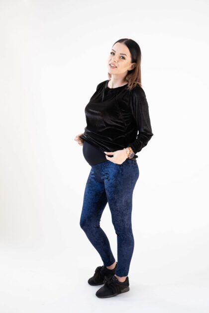 Leginsy ciążowe welurowe